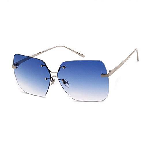 Zuyau Gafas de Sol cuadradas de Cristal sin Montura Retro Mujeres de los años 90 Oversized Clear Candy Color Tint Gafas de Sol Sombras-C5