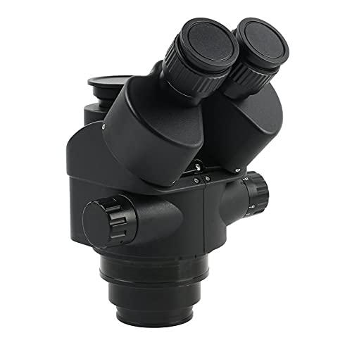 ZJN-JN. Microscopio Nero 7x-45x 3.5x-90x Microscopio trinoculare simul-focale zoom zoom zoom Testa del microscopio stereo + 0.5x 2.0x Lente ausiliaria (Color : 7x 45x)