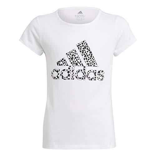 adidas Mädchen G G T1 T Shirt, Weiß Schwarz, 13 Jahre EU