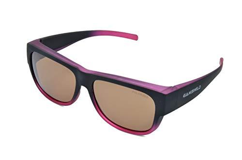 Gamswild WS6020 Überbrille Sonnenbrille Sportbrille Damen Herren Fahrradbrille | braun | blau | bordeaux, Farbe: Bordeauxrot