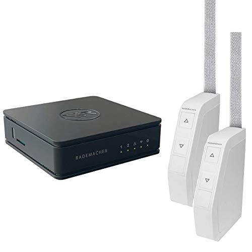 Rademacher HomePilot Vorteilspaket: Smart Home Zentrale HomePilot 2, 2x Funk-Schwenkwickler Aufputz Minigurt 15 mm 2550 | Rolladen elektrisch steuern Funk-Steuerung via Smartphone