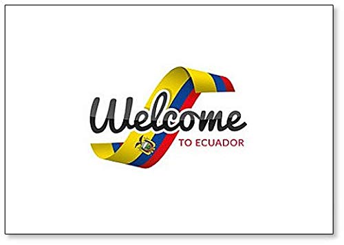 Welcome to Ecuador with Flag Klassischer Kühlschrankmagnet