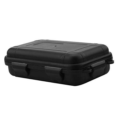 Dilwe Caja a prueba de golpes, impermeable, a prueba de golpes, contenedor de almacenamiento para actividades al aire libre (S-Negro)