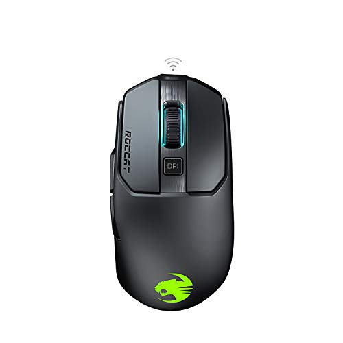 Roccat Kain 200 AIMO RGB Gaming Maus (16.000 Dpi Owl-Eye Sensor, Kabellos, Titan Click Technologie), schwarz