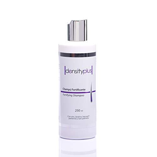 Densityplus champú anticaída. Estimula crecimiento del pelo, reduce la caída e incrementa densidad. Refuerza el cabello con Zinc, Biotiona, Baicapil, sin parabenos