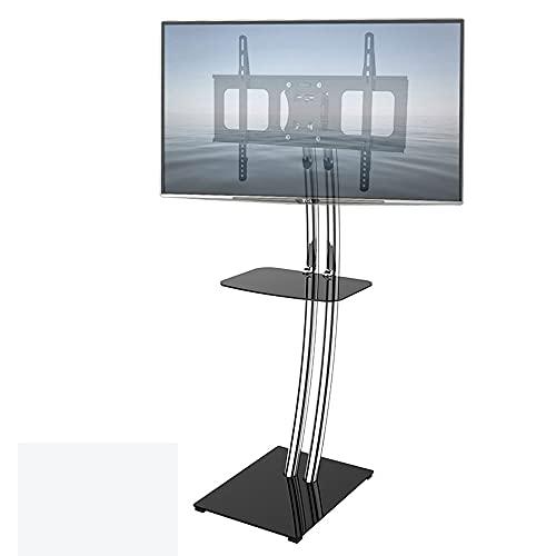 Yogafa Soporte de TV de Piso para televisores de 32-70 Pulgadas, TV de Esquina Moderna para Dormitorio, Montaje de TV Giratorio Universal, Soporte de Monitor móvil con Bandeja MAX VESA 600x400mm