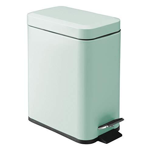 mDesign Cubo de Basura Rectangular con Capacidad de 5 litros