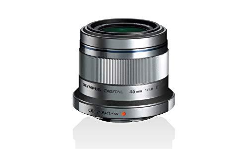 Olympus M.Zuiko Digital 45mm F1.8 Objektiv, lichtstarke Festbrennweite, geeignet für alle MFT-Kameras (Olympus OM-D & PEN Modelle, Panasonic G-Serie), silber