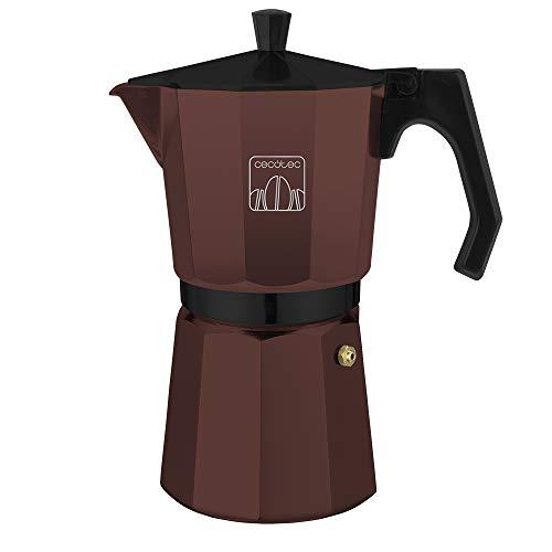 Cecotec Cafetera Moka Cumbia Mimoka 1200 Garnet. Cafetera Italiana, Aluminio Fundido, Apta para Todas Superficies térmicas, 12 Tazas café