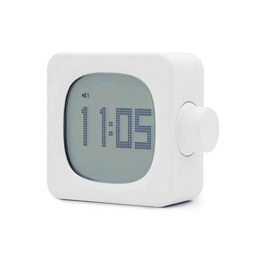 ZYZYY Digitale wekker LED tijdweergave lichtgevende lamp wijzigen Cubic Mini Electric Clocks Nachtlampje 12/24 uur instelbare helderheid