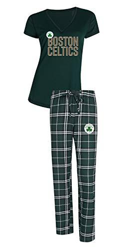 Boston Celtics NBA'Super Duo' Women's T-shirt & Flannel Pajama Sleep Set
