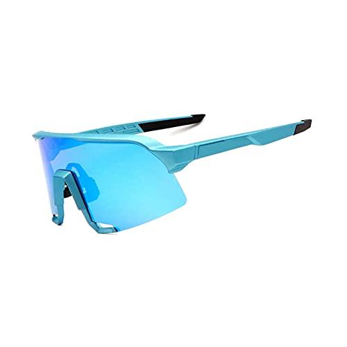 YSPS Gafas de Sol polarizadas: Gafas de Ciclismo al Aire Libre Myopia Set Mountain Bike A Prueba de Viento Motocicleta Motocicleta Gafas de Bicicleta para Ciclismo, béisb D