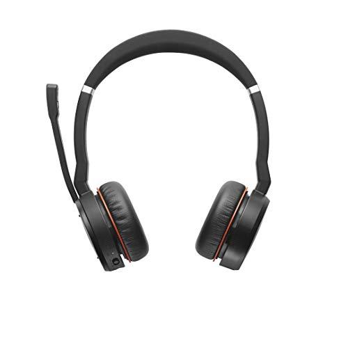Fone de ouvido estéreo sem fio com microfone Evolve 75 MS Jabra