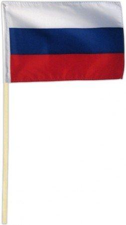 Fahne Flagge Russland 30 x 45 cm mit Stab