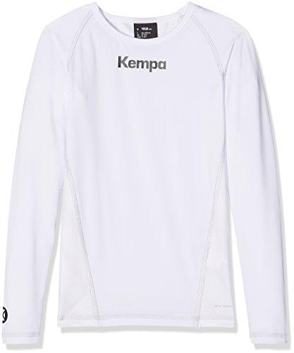 Kempa Kinder Bekleidung Teamsport Attitude Longsleeve, weiß, 164