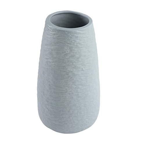 LIXBD Keramik-Blumenvase, trockene Blumenvase, Blumentopf, dekorative Vase, Dekoration für Haushalt, grau (ohne Blume) (Farbe: grau)