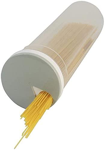 Contenitore portatile per la conservazione degli alimenti Dispenser per vaschette per spaghetti Dispenser per cereali da cucina con coperchio rotante-1pcs