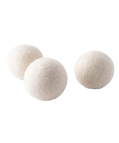 b2c フェルト ドライヤーボール 3個入り(ホワイト)|乾燥機用ウールボール 洗濯ボール ランドリー ボール 静電気防止 絡み防止 洗濯グッズ
