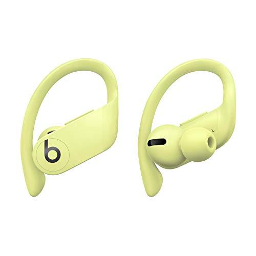 Fones de ouvido Powerbeats Pro totalmente sem fio – chip de fone de ouvido Apple H1, Bluetooth classe 1, 9 horas de tempo de audição, fones de ouvido resistentes ao suor – amarelo primavera