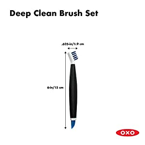 OXO Good Grips Deep Clean Brush Set, Blue |