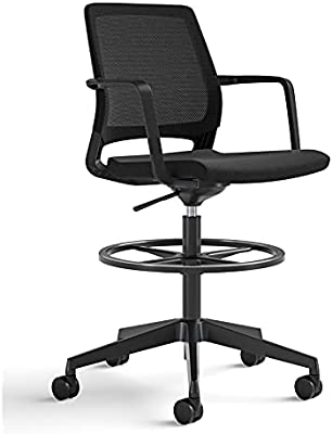 Safco Products Medina Extended-Height Office Chair, Black