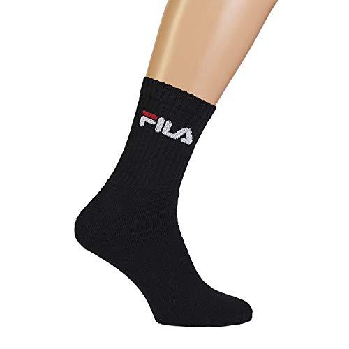 Fila 3Pack Crew Sport Socks, Nero, M/L