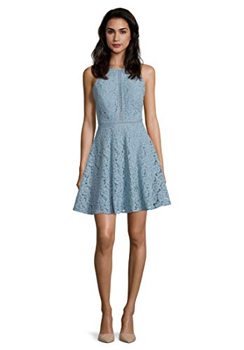 Vera Mont Damen 8096/4587 Kleid, Blau (Aqua Blue 8391), (Herstellergröße: 38)