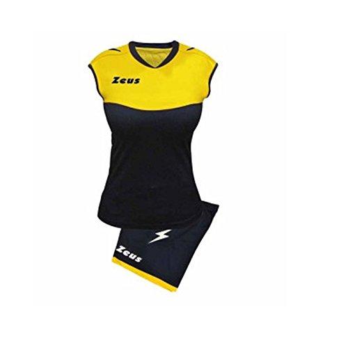 Zeus Sara Volleyball-Komplett-Set für Schule, Sport, Training, Volley, Pegashop (BLU-GIALLO, M)
