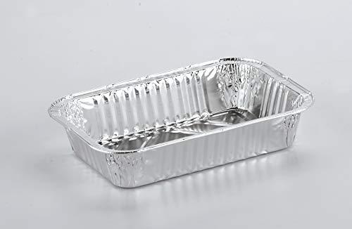 SMA GROUP 1200 pz: Vaschette in Alluminio 209x140x39 H Bordo G da 2 porzioni capacità CC 770