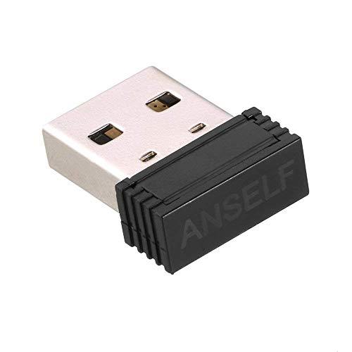 Anself ANT+ USB Stick Adapter für Garmin Forerunner 310XT 405 410 610 910XT kompatibel mit CycleOps Virtual Trainer Sunnto Watch Zwift TrainerRoad PerfPRO Studio