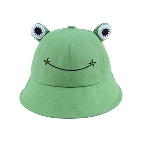 Sombrero de Cubo para Mujer Verano Otoño Llanura Mujer Senderismo al Aire Libre Playa Pesca Gorra Protector Solar Mujer Sombrero para el Sol-Green-Kids(52-54cm)