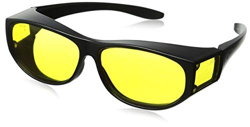 Global Vision Escort Safety Glasses Fits Over Most Glasses Yellow Lenses