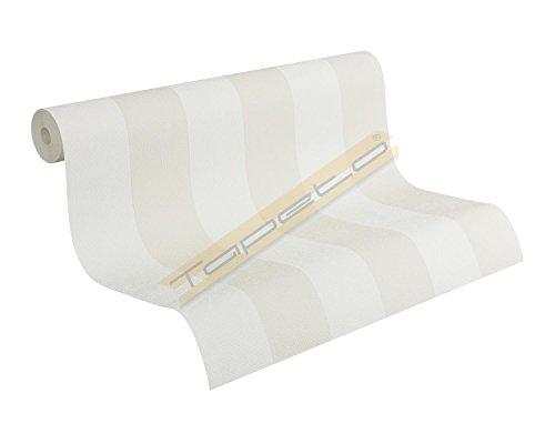Fleuri Pastel Tapete - Material: in weiß, beige (Nr. 7691-9267)