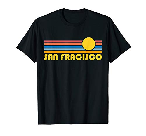 San Francisco, California Retro Sunset - San Francisco T-Shirt