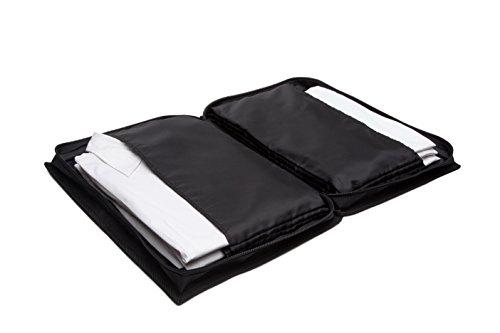 at-bags SET BASIC – seminario, congresso, borsa per seminari, borsa per congressi, trasporto senza pieghe di 6 indumenti, oggetti per il viaggio,bagaglio a mano,borsa portaoggetti - incl.sagoma pieghe