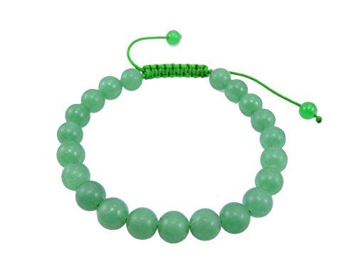 Tibetan Mala Green Jade Agate Wrist Mala/ Bracelet for Meditation