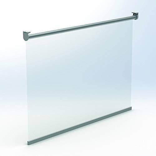 KAATEN Estor Enrollable de protección - Mampara Enrollable - Protección Anti contagios - 100% PVC Transparente - Disponible en Diferentes Medidas