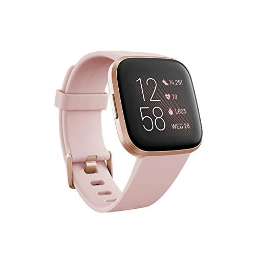 Fitbit FB507RGPK Versa 2 Health & Fitness Smartwatch with Heart Rate, Music, Alexa Built-in, Sleep & Swim Tracking, Petal/Copper Rose,...