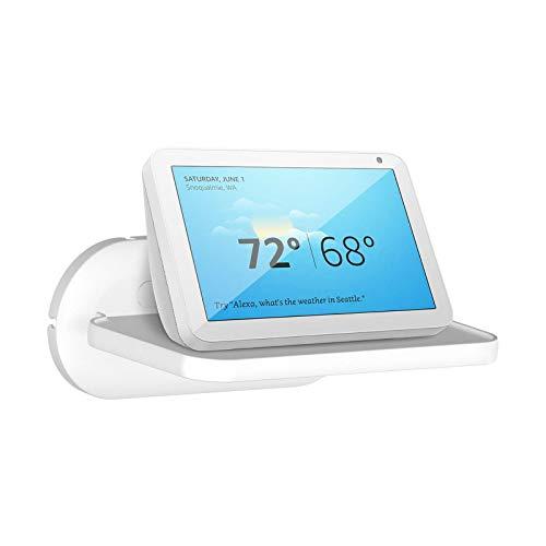 Cozycase pequeño estante de pared para Ech0 Show 8 (1.ª / 2.ªgeneración), estantes flotantes para JBL Flip y otros altavoces Bluetooth, ahorrando espacio en el mostrador de la cocina del baño - Blanco