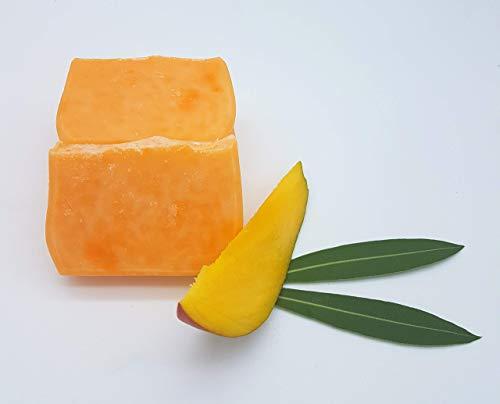 Mango Haarseife - bei normalem bis trockenem Haar und trockener, sensibler Kopfhaut, vegan, ohne Palmöl, handgemachte Naturseife, Haarseife von kleine Auszeit Manufaktur