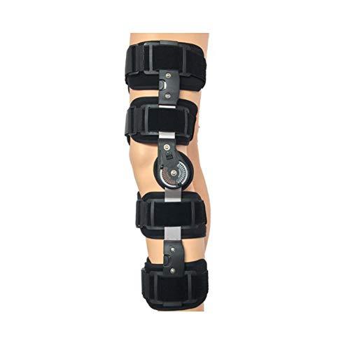 Candyana Soporte de Rodilla con bisagras Brace Bisagras Dobles y Correas Cruzadas Ajustables Ayuda a la Rodilla estabilizada para desgarro de Artritis/LCA/menisco,Black,S