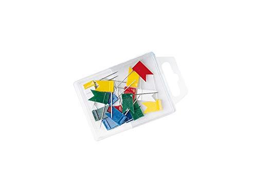 Wedo 56299 Markierungsfahnen (Fahnengröße 18 x 10 mm, Nadellänge 25 mm) 20 Stück, sortiert farbig