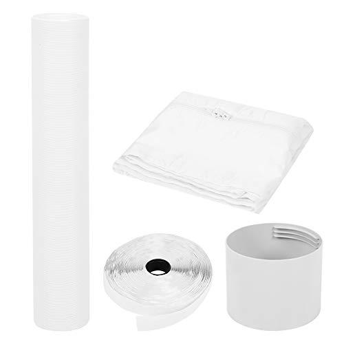 Sdfafrreg Kit di sfiato per Tubo di Tenuta della Finestra, Kit di Tenuta per Finestra Materiale in PVC Facile da installare con Striscia di Tenuta per Finestra Tubo da 3 Metri per condizionatore(#1)