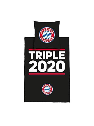FC Bayern München Triple 2020 bed linen, duvet cover: 200 x 135 cm, pillow: 80 x 80 cm.