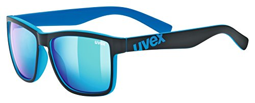 uvex Unisex– Erwachsene, lgl 39 Sonnenbrille, black mat blue/blue, one size