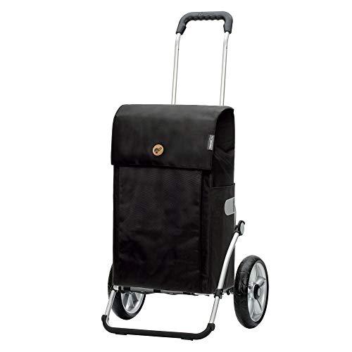 Andersen Shopper Royal mit Kugellager Alu klappbar mit Kugellagerrad Ø 25cm und 53 Liter Tasche Jante schwarz