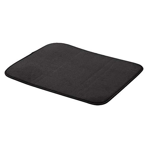 """Amazon Basics - Esterilla de secado, 41x46cm / 16x18"""", color negro, 2 unidades"""
