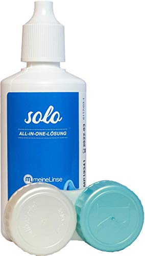 meineLinse (ehemals Oculsoft) Solo All-in-One Lösung 90 ml Reiseset Pflegemittel für Kontaktlinsen