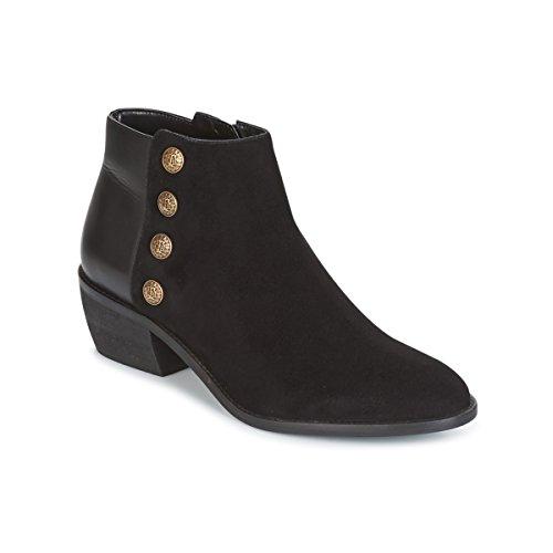 DUNE LONDON PANELLA Enkellaarzen/Low boots dames Zwart Enkellaarzen