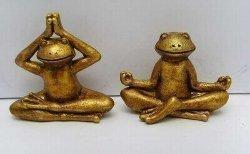 Yoga Frösche klein Mudra + Mantra in Geschenketüte